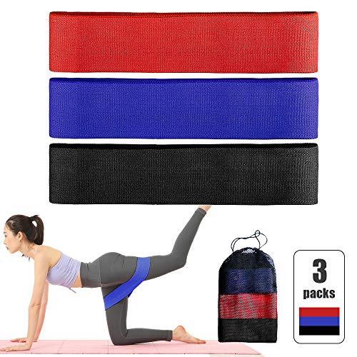 Set di 3 fasce elastiche elastiche per yoga, casa, palestra, allenamento
