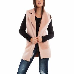 Gilet donna eco pelliccia casual giacca cardigan smanicato caldo TOOCOOL VB-9395