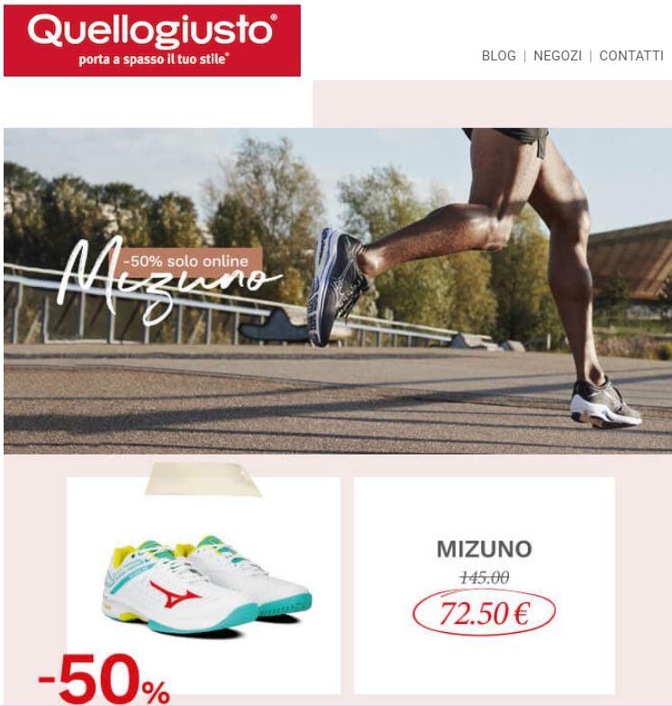 Mizuno - Sconti del 50% solo online Quellogiusto