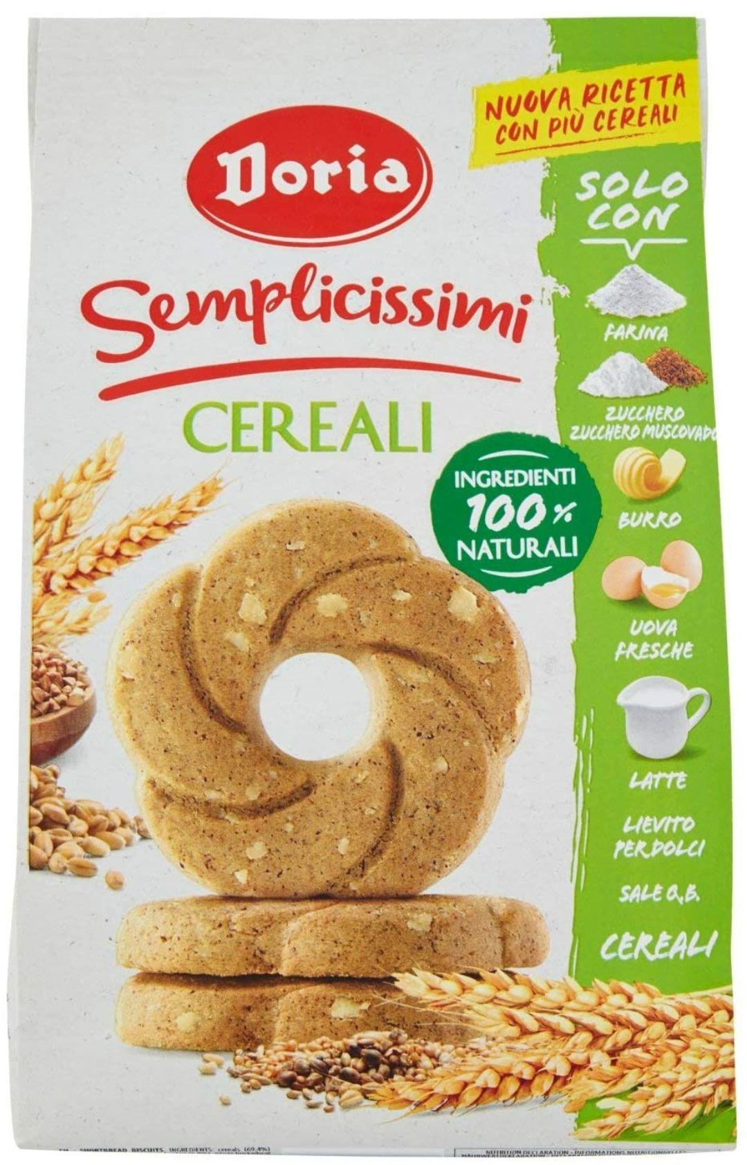 Doria - Semplicissimi Frollini ai Cereali - Confezione da 280 gr