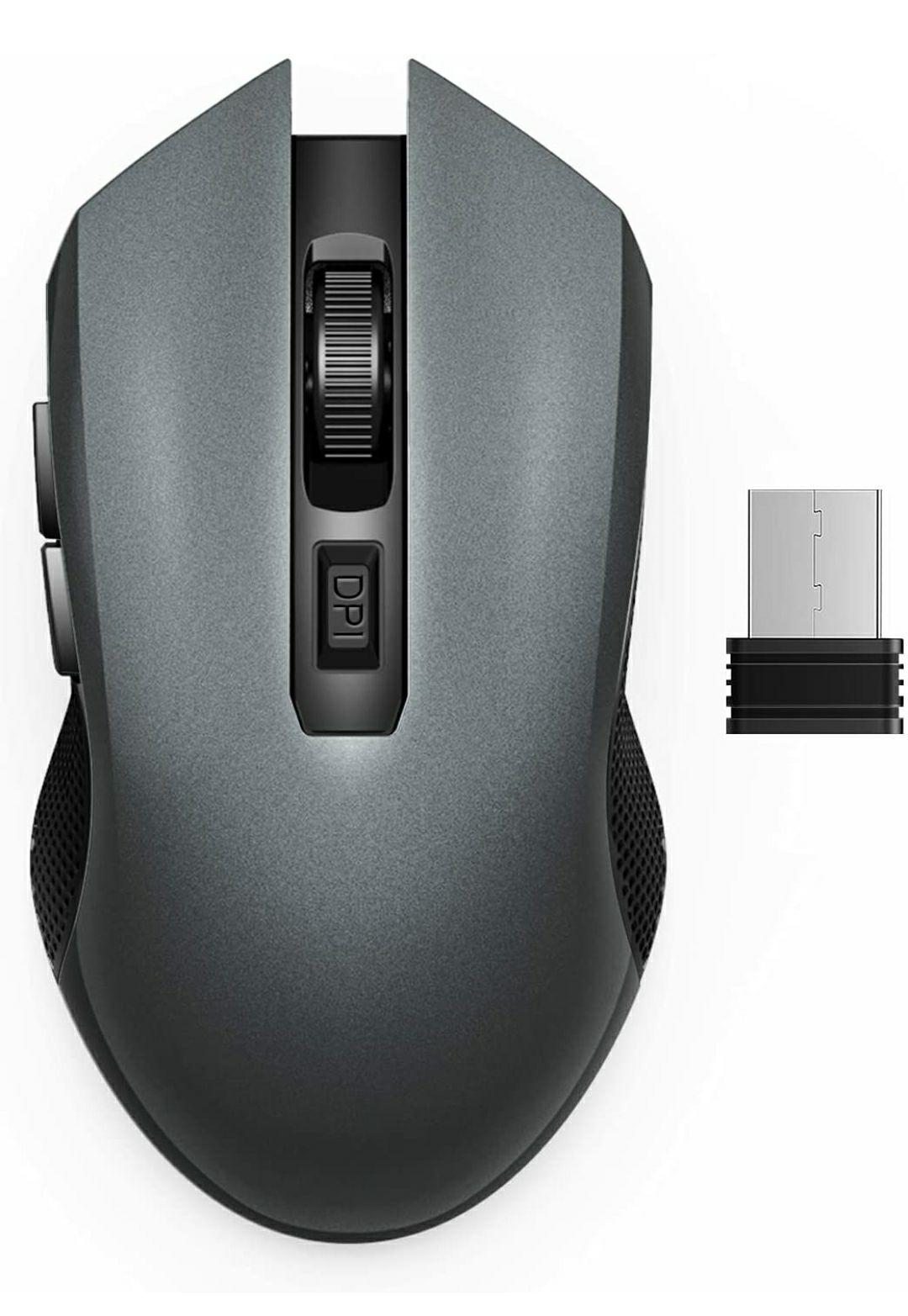 Mouse Wireless USB Silenzioso 1600DPI