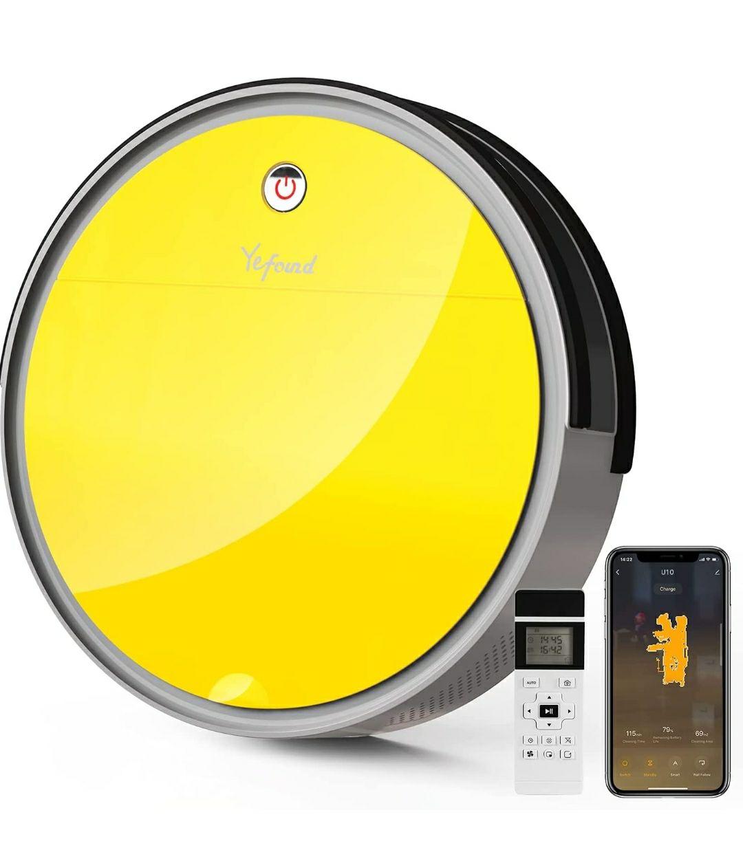 Robot Aspirapolvere,Yefound U10 2000Pa - Controllo Telecomando/App/Alexa