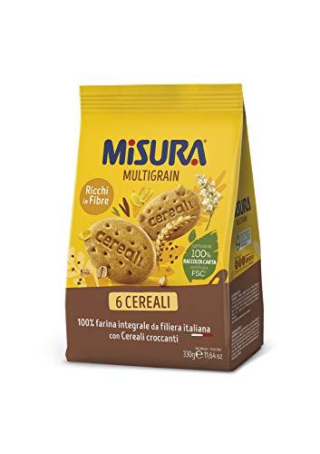 Misura Biscotti Integrali Multigrain con Cereali Croccanti, 330g