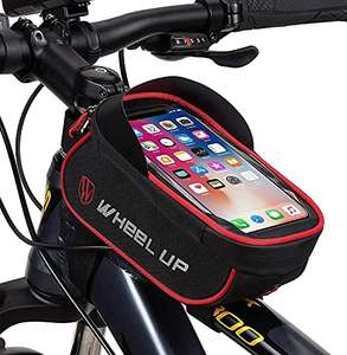 Borsa bici con supporto smartphone
