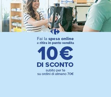 Carrefour Sconto 10€ con ritiro in negozio