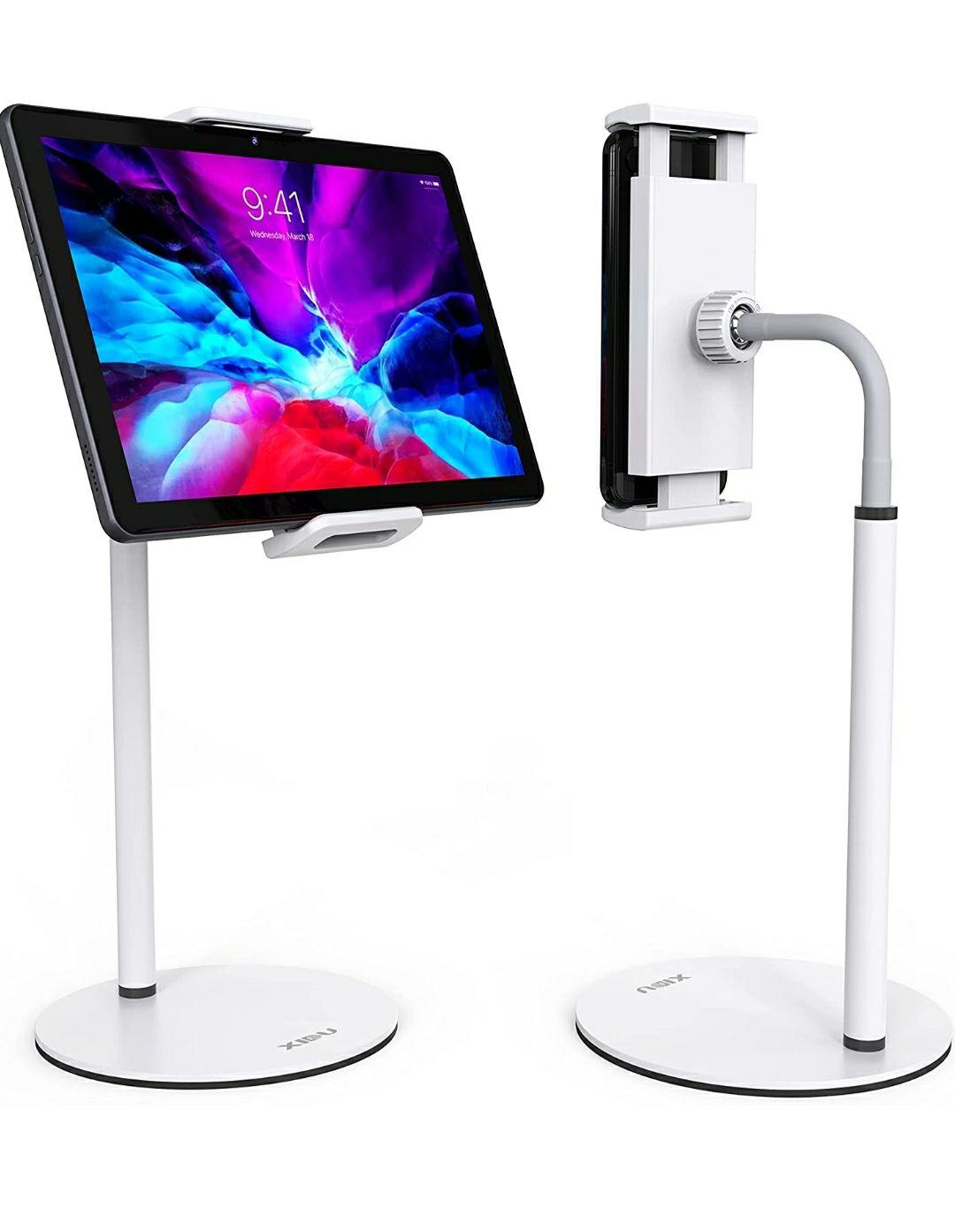 Supporto Tablet o Smartphone da Tavolo Girevole a 360° Regolabile