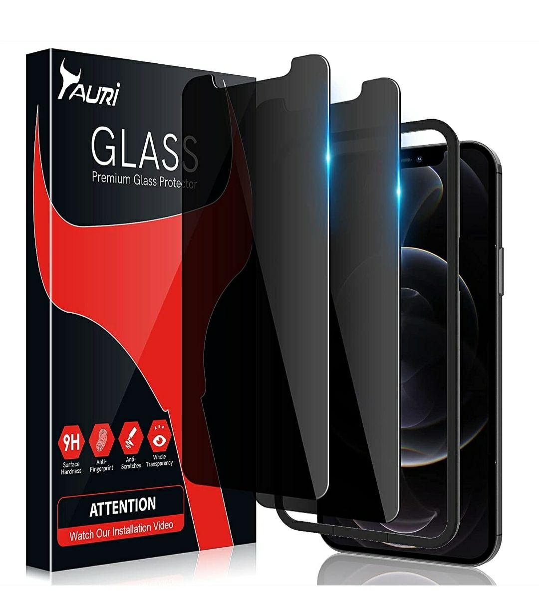2 x Protezione Schermo in vetro temperato - Compatibile con iPhone 12 e 12 PRO
