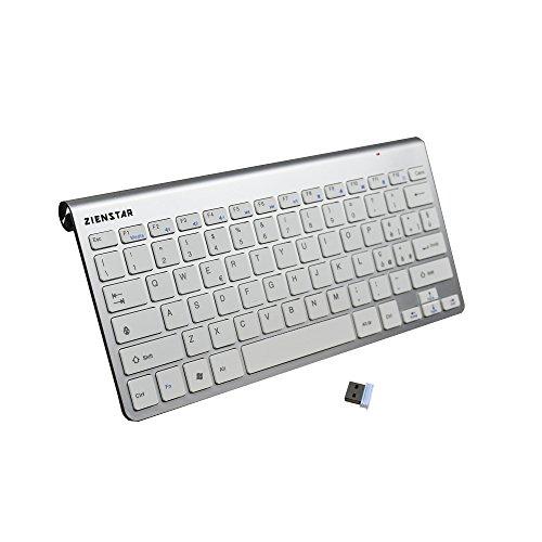 Tastiera wireless con Ricevitore USB 2.4Ghz per Windows/iOS/Linux e Android Smart TV