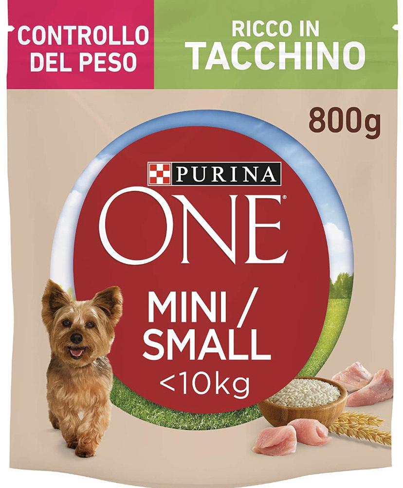 Purina One Mini Crocchette Cane Controllo del Peso Ricco in Tacchino, con Riso, per Cani Fino A 10 kg