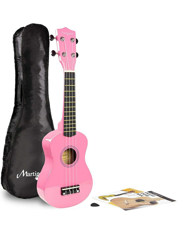 Martin Smith Ukulele Soprano con borsa per ukulele, libro degli accordi