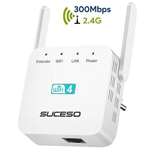 Ripetitore Wifi Wireless Ripetitore WiFi Extender 300Mbps/2.4GHz, Porta LAN,Wireless Dual Antenna WiFi