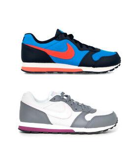 Nike - Leather Sneakers MD Runner 2 GS Donna Pelle Sintetico Tessuto Blu Nero