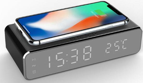 Sveglia Led Caricatore Wireless 9.9€