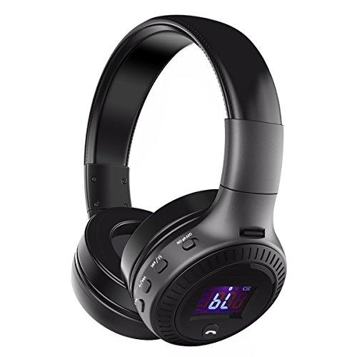 Cuffie Bluetooth, ELEGIANT Auricolari Wireless Headset PC Hi-Fi Stereo con Microfono TF card e Radio FM