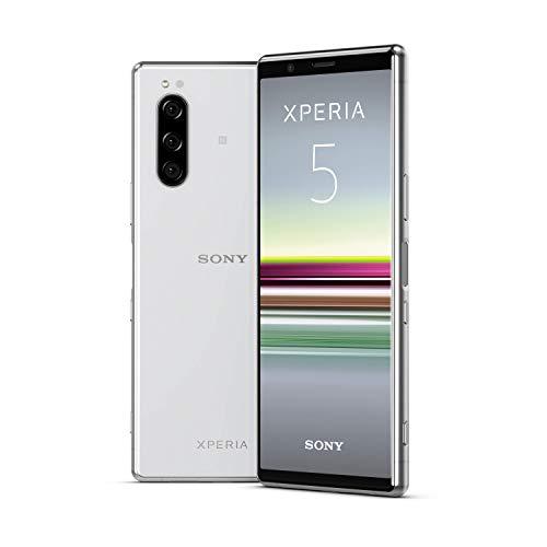 """Sony Xperia 5, display 21:9 da 6.1"""" FHD+ HDR OLED, fotocamera con tre obiettivi e con Eye AF, 6GB di RAM, 128GB di memoria, Grigio"""