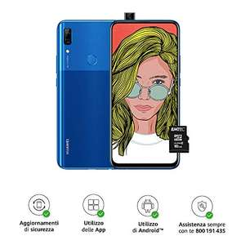 Huawei P Smart Z (Blue) Smartphone + MicroSD HC 16GB Class 10