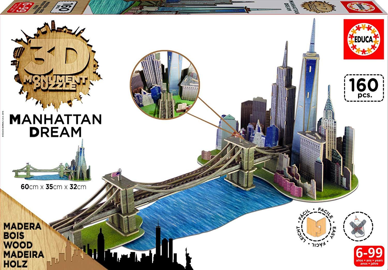 Puzzle 3D Legno Manhattan Dream 8.4€