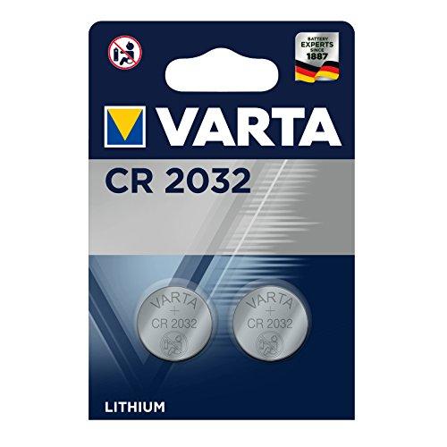 2 batterie VARTA CR 2032, Batteria Litio.