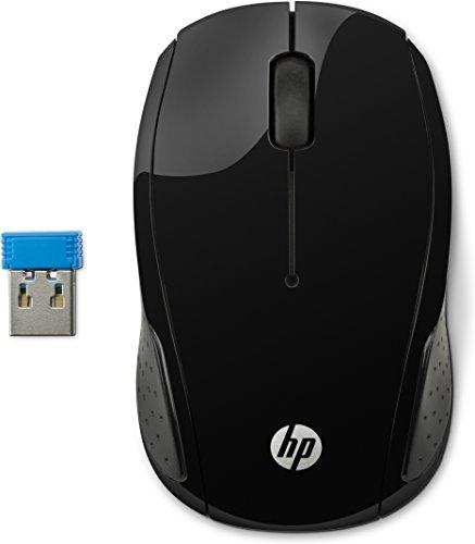HP 200 Mouse Wireless con Profilo Sagomato, Nero