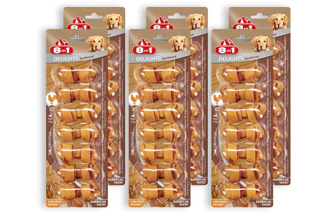 Errore di prezzo 8 in 1 Delights Pork XS - Snack per cane Masticabile con Carne di Pollo Avvolta In Pelle di MaialeSnack