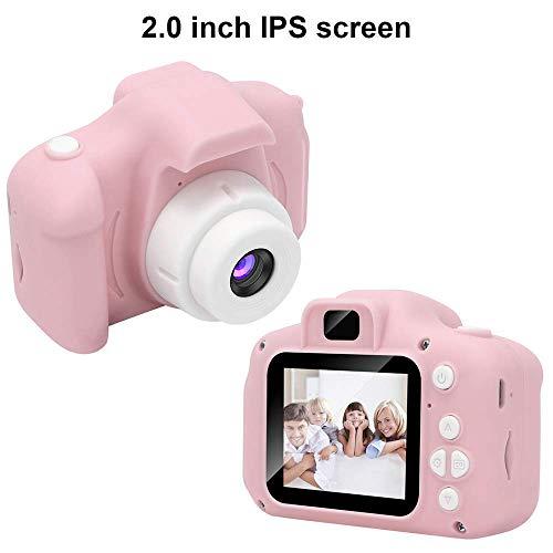 Fotocamera per bambini CAMARO, videocamera/video HD 1080p, schermo LCD da 2 pollici, IS viene fornito con scheda di memoria 32G (ROSE-5)