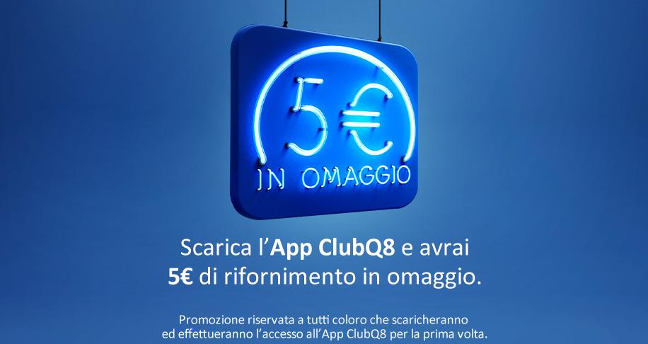 5 € di carburante gratis Q8