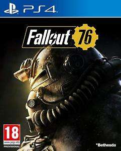 PS4 PLAYSTATION 4 FALLOUT 76 DVD NUOVO ORIGINALE ITALIANO