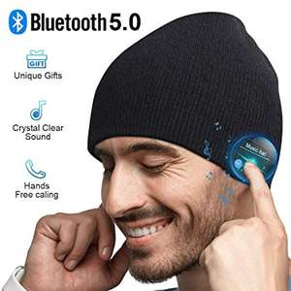 Cappello Bluetooth Idee Regalo Uomo - Cappello Uomo Donna Invernali, Berretto Bluetooth 5.0
