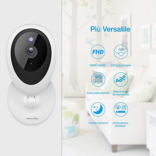 Telecamera IP Wifi 1080P compatibile con Alexa