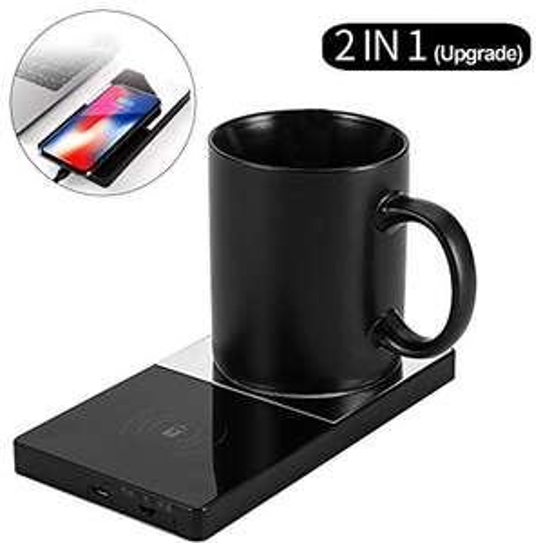 SCOBUTY Scalda Tazza, Scalda caffè e Caricabatterie Wireless 2 in 1