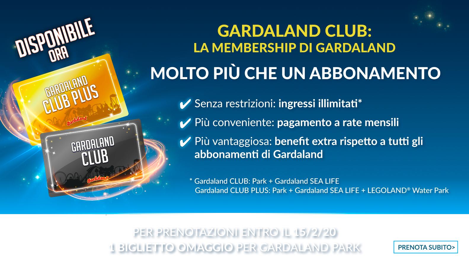 Abbonamento Gardaland Club